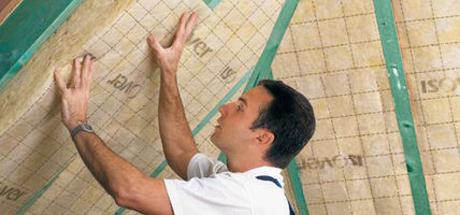 promoties isolatie voor hellend dak en zoldervloer gedimat bouwmaterialen. Black Bedroom Furniture Sets. Home Design Ideas